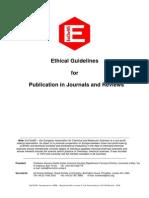 Publishing Ethics guidelines