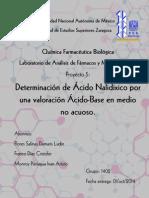 Determinación de ácido nalidíxico