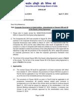SEBI Circular on Certain Amendments in LA 17042014