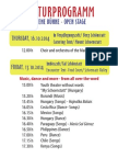 Kulturprogramm Plakat