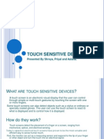 Touch Sensitive Devices