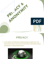 Privacy & Anonymity