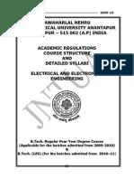 B.tech. - R09 - EEE - Academic Regulations Syllabus