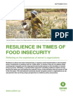 Resilience in Times of Food Insecurity
