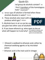 Quick Q's Alcohol Review