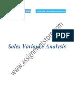 Sales Variances