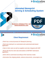Automated Newsprint Planning & Scheduling System