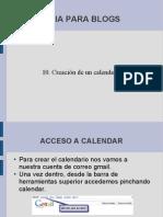 Creación de un calendario