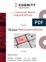 Cognity Kurs Excel - Excel Samouczek Błędy.pptx