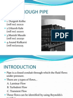 Flow Through Pipe