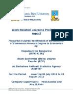 Maputsenyika Ranga Zimstat Preliminary Report