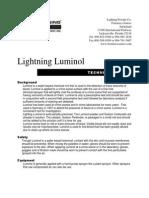 Technical Note - Lightning Luminol