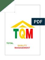Blackbook Project on TQM