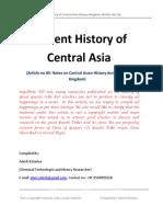 Ancient History of Central Asia-Khazar Kingdom