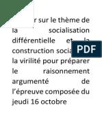 Dossier sur le thème de la socialisation différentielle et la construction sociale de la virilité pour préparer le raisonnement argumenté de l'épreuve composée.pdf