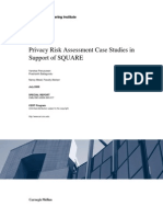 Privacy Risk Assessment Case Studies in Support of SQUARE