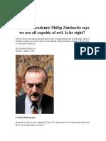 Zimbardo Article Notes