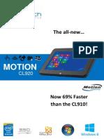 New Motion CL920 Datasheet 2014