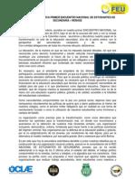 Declaración Política Primer Encuentro Nacional de Estudiantes de Secundaria - RENASE