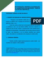 PALESTRA SOBRE ELABORAÇÃO PROJETOARTIGO CIENTÍFICO E DE DISSERTAÇÃO 3014.1..doc