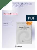 De Simini Journal of Indian Philosophy