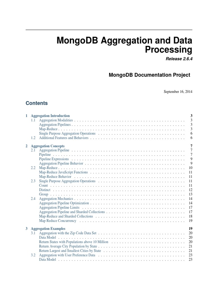 MongoDB-aggregation-guide pdf | Map Reduce | Mongo Db