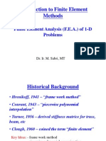 1a Introduction to 1D FEA