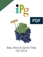 IPG Fall 2014 Beer, Wine & Spirits Titles