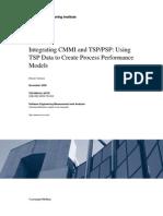 Integrating CMMI and TSP/PSP