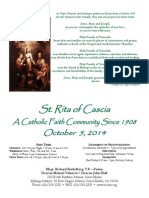 St. Rita Parish Bulletin 10/5/2014