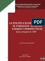 LA POLITICA ECONOMICA EN EL PARAGUAY - ANA LETICIA CAROSINI - PORTALGUARANI