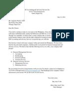 Advertising Letter
