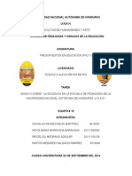 ENSAYO sobre La Docencia en la Escuela de Pedagogia de la UNAH.pdf