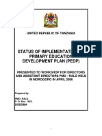 Primary Education Development Plan - Orientation-1