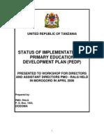 Primary Education Development Plan - Orientation-1