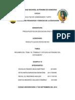 TAREA GRUPO 10 Presupuestos. El estudio autonomo de los estudiantes.pdf