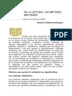 ENSEÑANZA DE LA LECTURA LOS MÉTODOS PARA EL PRIMER GRADO.docx