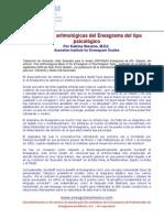 Las bases aritmológicas del Eneagrama del tipo