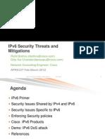 IPv6 Security Threats Mitigations Apricot v4