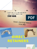 Direct Retainers - in removable partial dentures