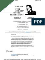 Balibar on the Dictatorship of the Proletariat