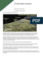 Binay's P1.2B estate behind overpricing