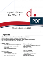 DDOT Projects Update for Ward 8 Presentation - October 6, 2014