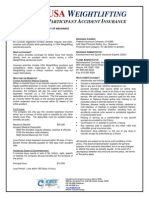 USA Weightlifting - Participant Accident Insurance Program 2014