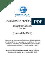 2011 Nursing Reorientation