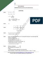11 Mathematics Permutation and Combinations Test 05 Answer 98u4