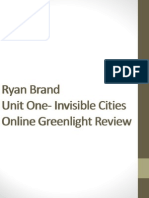 Green Light Review Invisible Cities