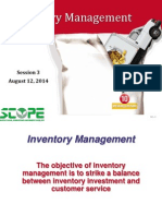 Inventory Management Session 3