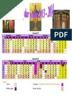 Calendar an Scolar 20132014