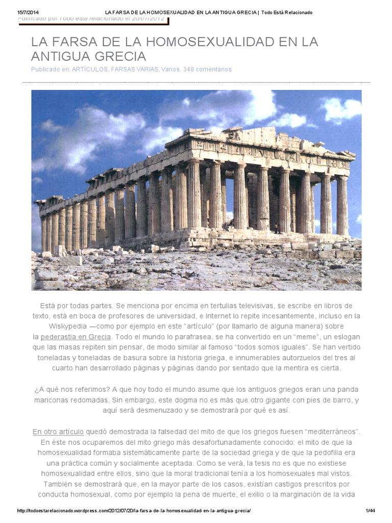 El homosexualismo en grecia